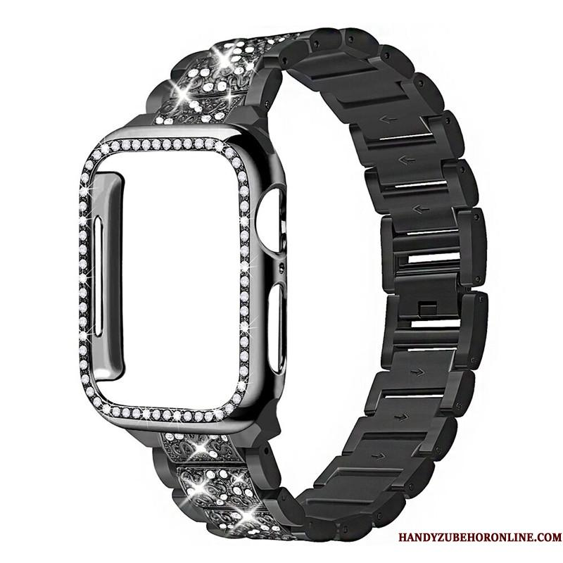 Apple Watch Series 3 Bøde Sort Strass Etui