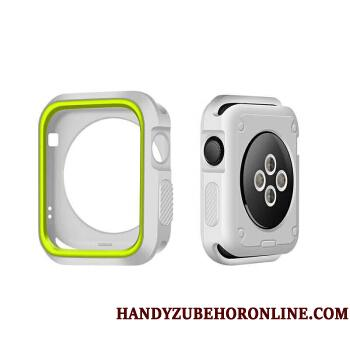 Apple Watch Series 3 Bicolored Cover Etui Silikone Grøn Beskyttelse Hvid