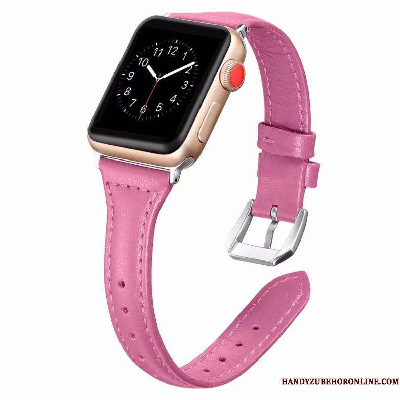 Apple Watch Series 3 Etui Ægte Læder Bøde Lilla