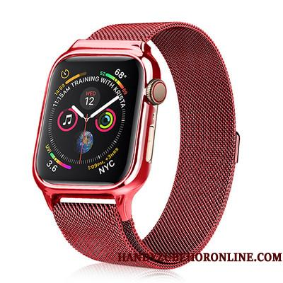 Apple Watch Series 3 Metal Cover Ny Beskyttelse Rød Alt Inklusive Etui