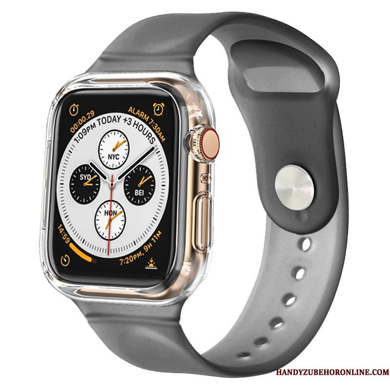 Apple Watch Series 3 Silikone Sort Cover Sport Bicolored Etui Beskyttelse