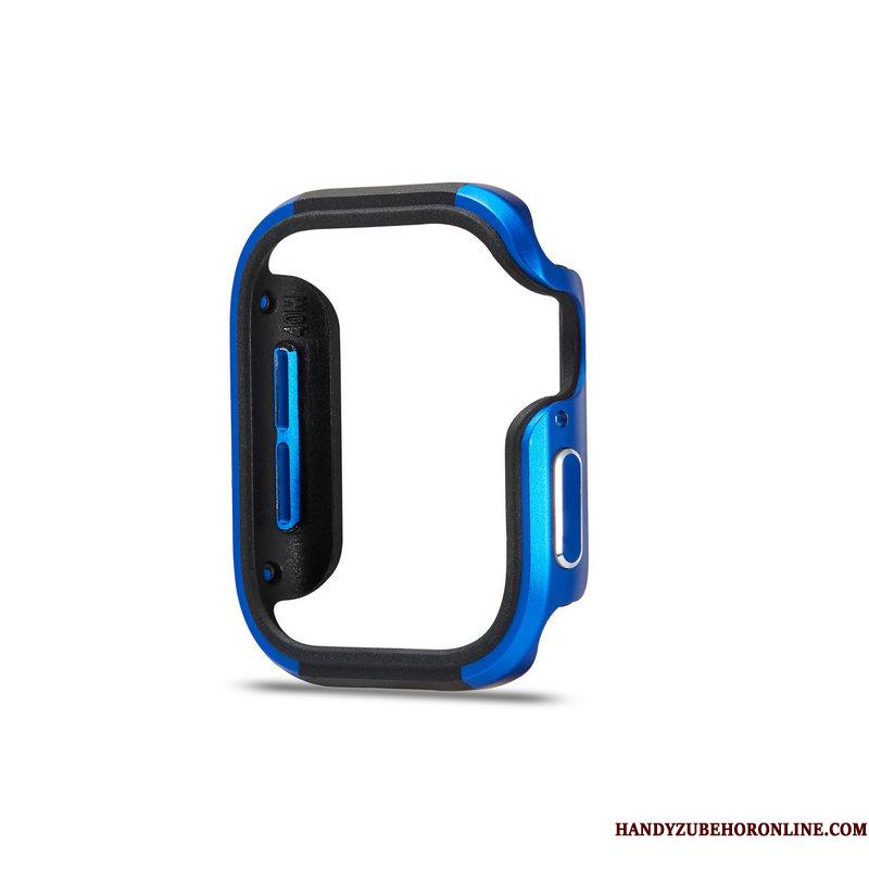 Apple Watch Series 5 Etui Blå Beskyttelse Metal Anti-fald Ramme