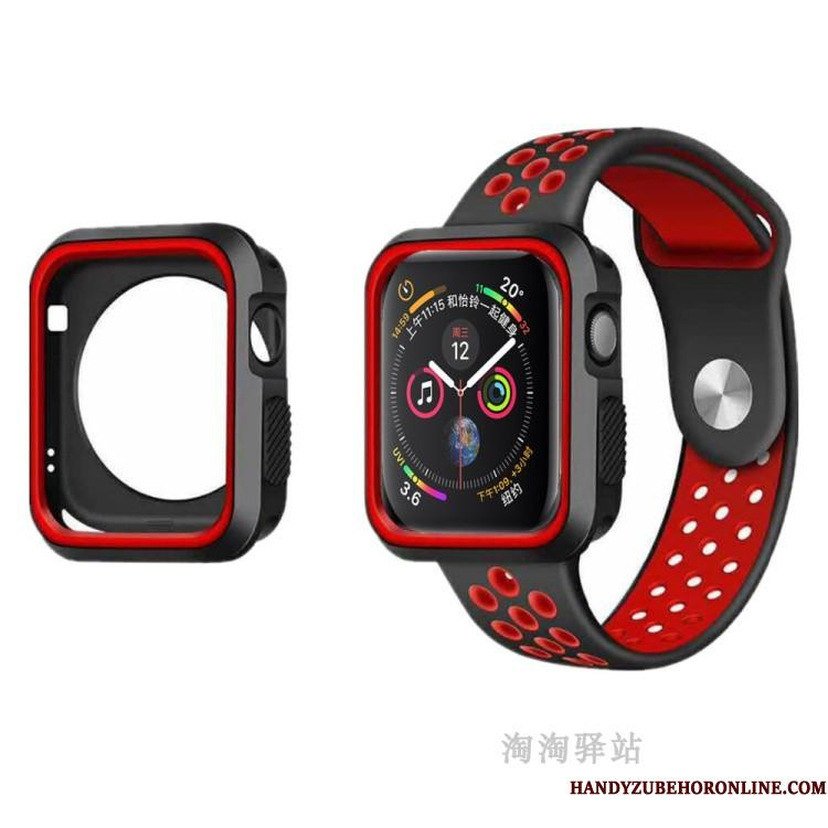 Apple Watch Series 5 Etui Cover Blød Beskyttelse Sport Anti-fald Rød