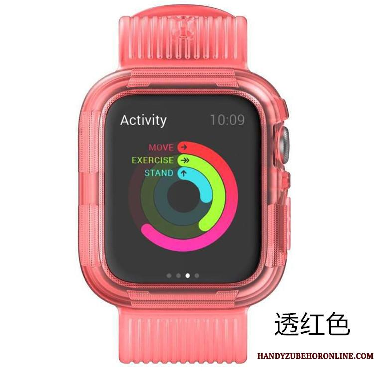 Apple Watch Series 5 Lyserød Cover Sport Armour Beskyttelse Etui Silikone