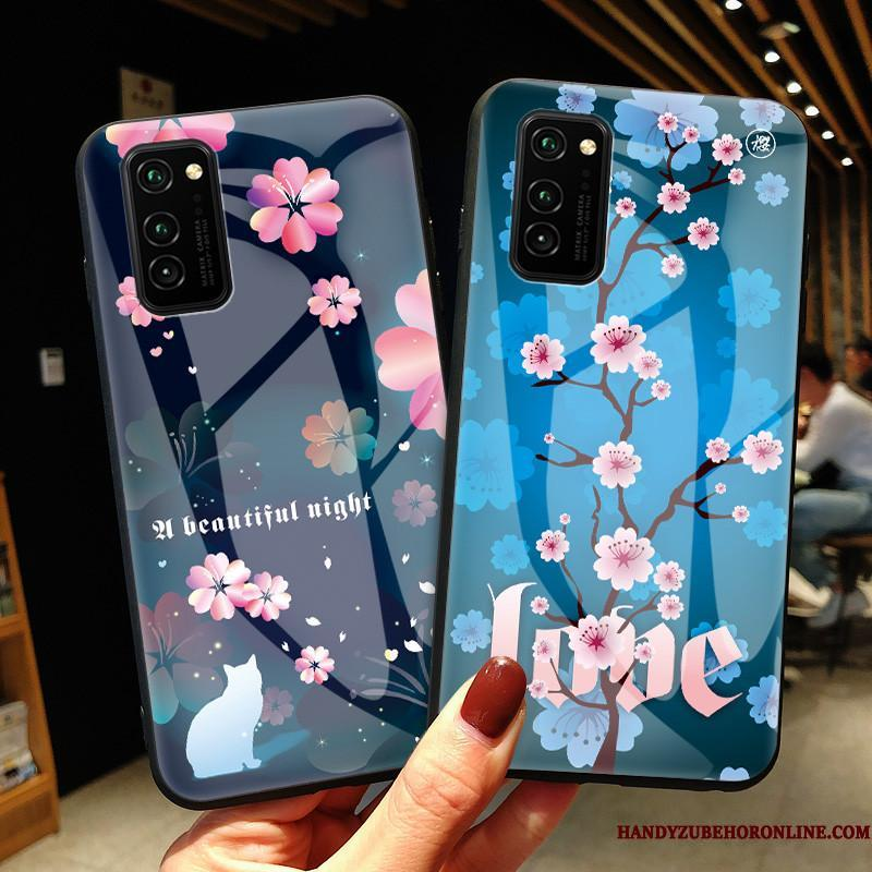 Honor View30 Pro Cover Frisk Blå Beskyttelse Cherry Telefon Etui Glas