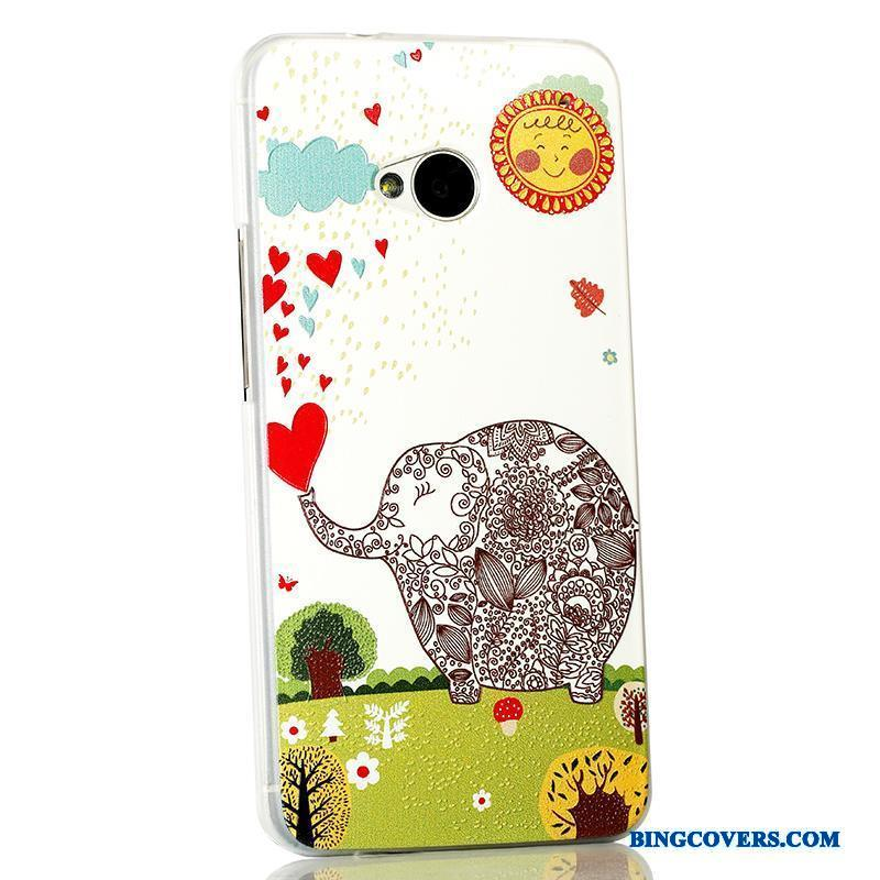 Htc One M7 Tynd Cartoon Beskyttelse Cover Telefon Etui Relief Trend