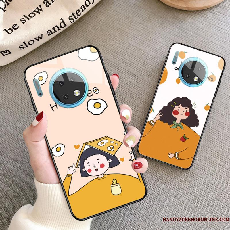 Huawei Mate 30 Etui Trendy Alt Inklusive Beskyttelse Silikone Cover Cartoon Glas