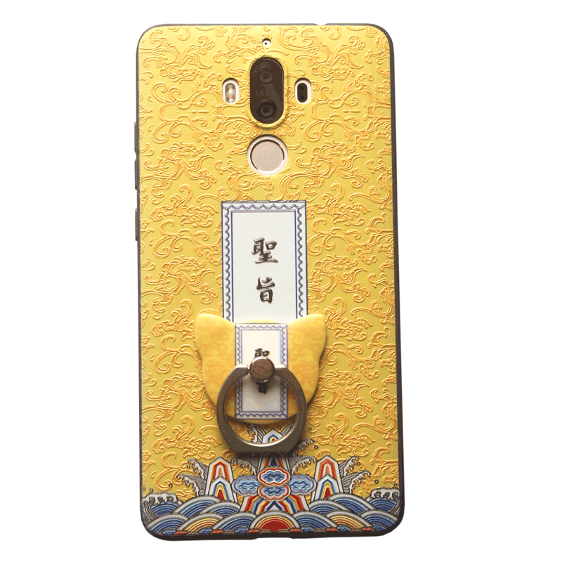 Huawei Mate 8 Gul Relief Beskyttelse Kreativ Telefon Etui Palads Cover