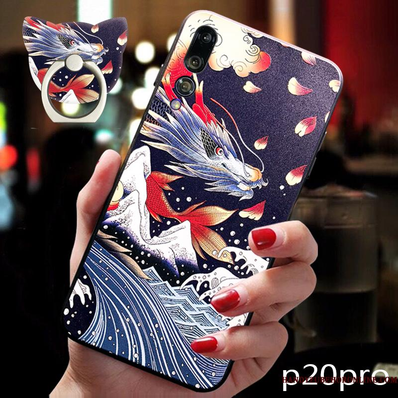 Huawei P20 Pro Blød Cover Telefon Etui Dragon High End Beskyttelse Trend