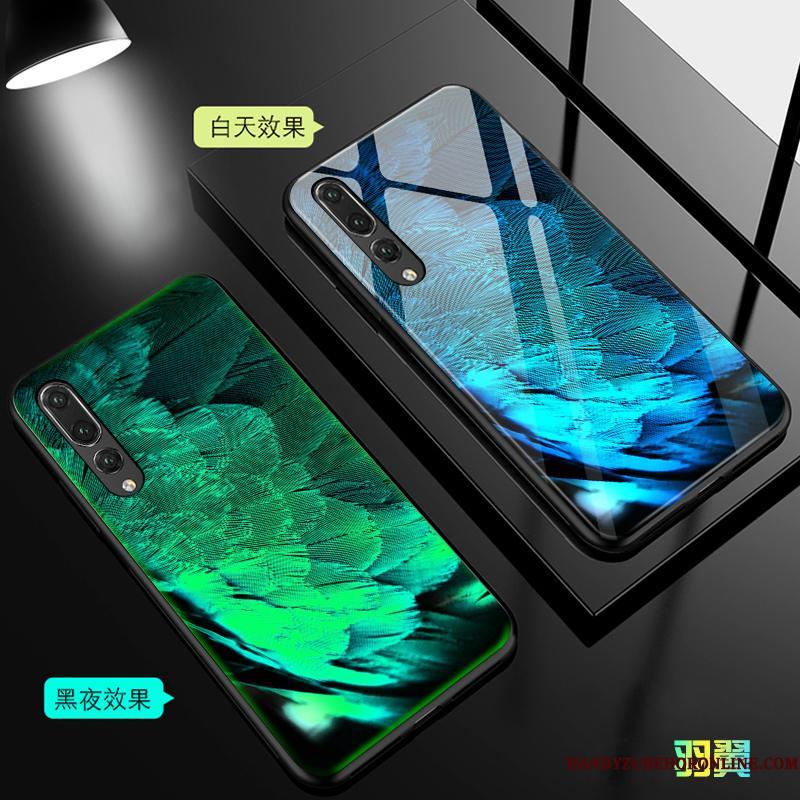 Huawei P20 Pro Etui Af Personlighed Net Red Blå Lyser