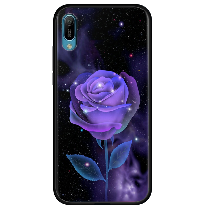 Huawei Y6 2019 Sort Anti-fald Telefon Etui Cover Mode Blød