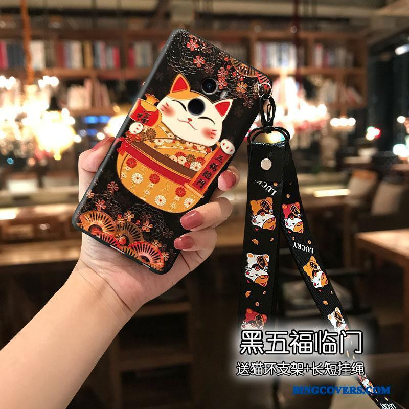 Mi Mix 2 Alt Inklusive Sort Wealth Lille Sektion Cartoon Smuk Telefon Etui