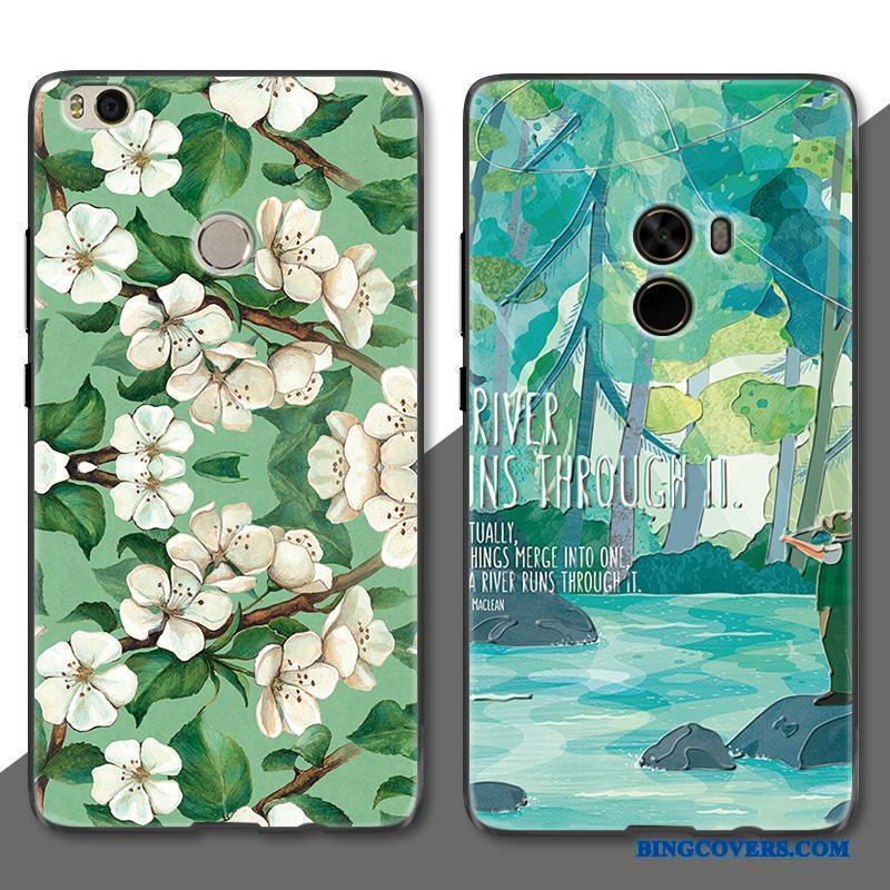 Mi Mix 2 Blomster Simple Telefon Etui Lille Sektion Cover Kunst Trend