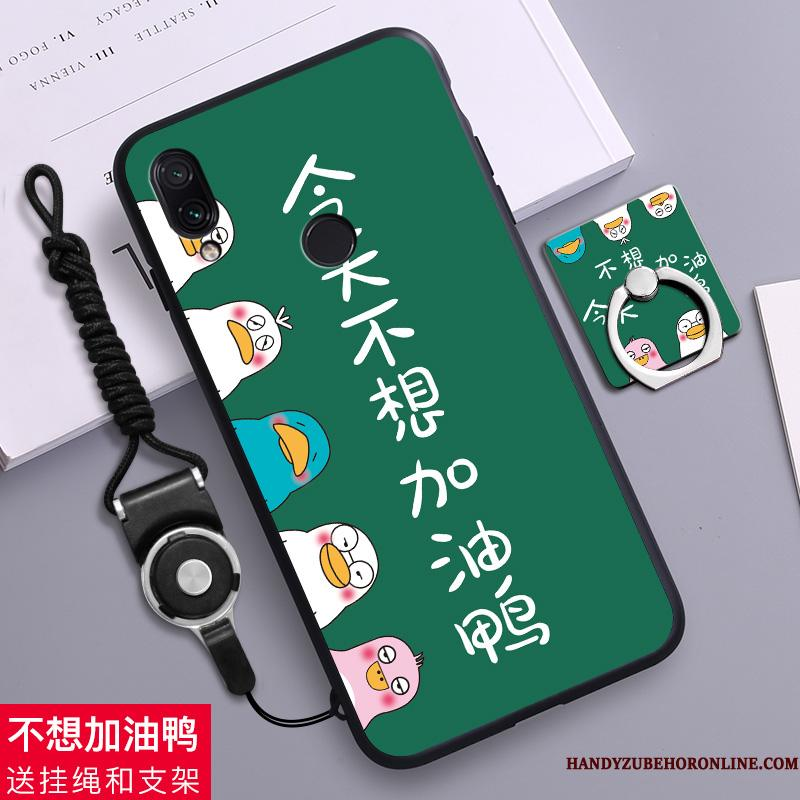 Redmi 7 Telefon Etui Mobiltelefon Cartoon Rød Cover Hængende Ornamenter Grøn