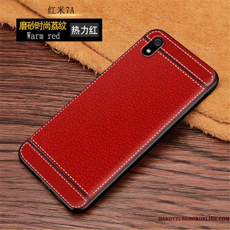 Redmi 7a Blød Net Red Trend Telefon Etui Cover Simple Trendy
