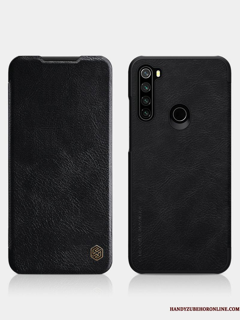Redmi Note 8t Etui Clamshell Sort Beskyttelse Cover Rød Guld Anti-fald