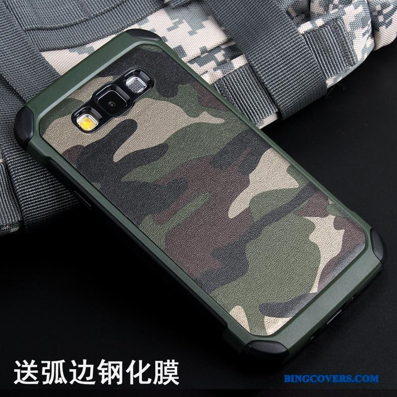 Samsung Galaxy A5 2015 Anti-fald Beskyttelse Silikone Af Personlighed Camouflage Telefon Etui Cover