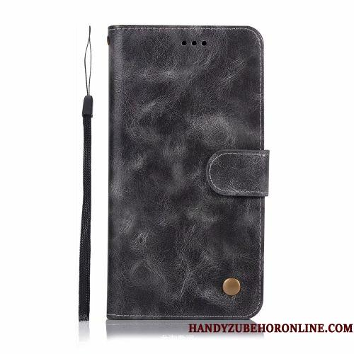 Samsung Galaxy A50 Etui Lædertaske Simple Business Anti-fald Vintage Tegnebog Trend