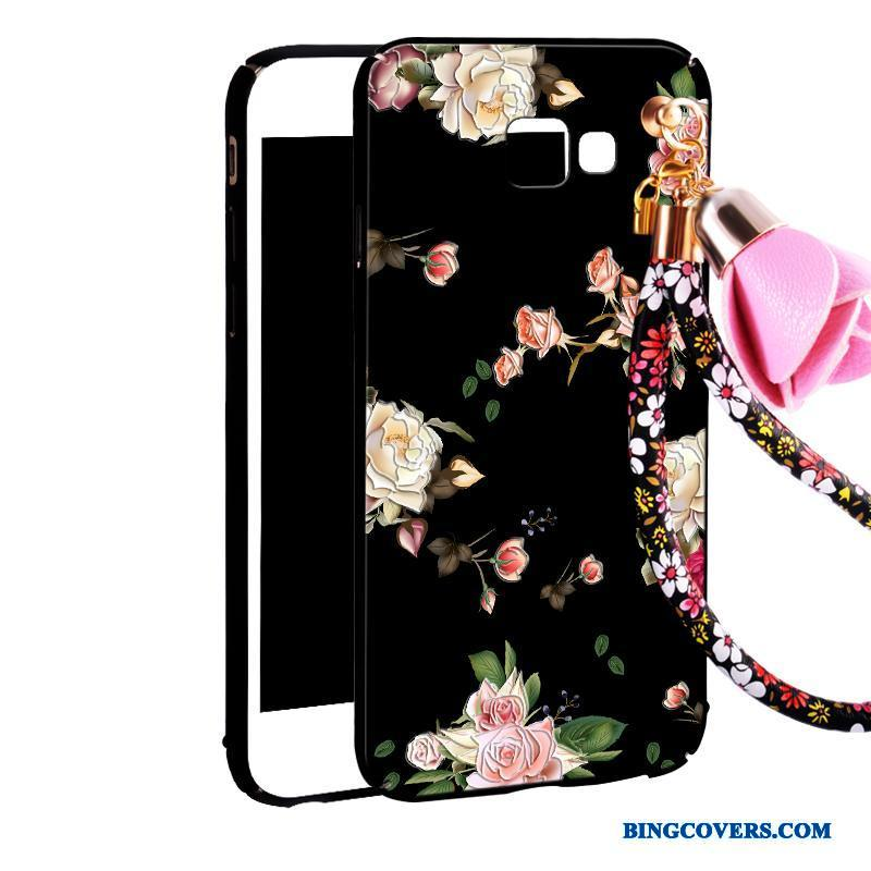 Samsung Galaxy A7 2016 Mobiltelefon Sort Etui Hængende Ornamenter Cover Cartoon Hård