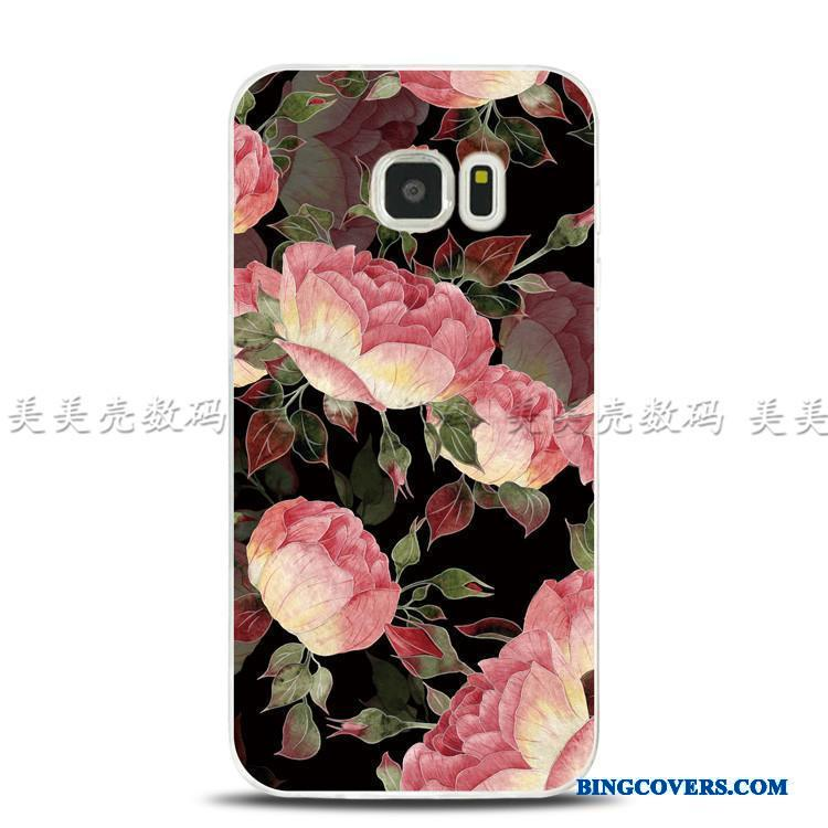Samsung Galaxy Note 5 Etui Relief Stjerne Blomster Support Ring Cover Blød