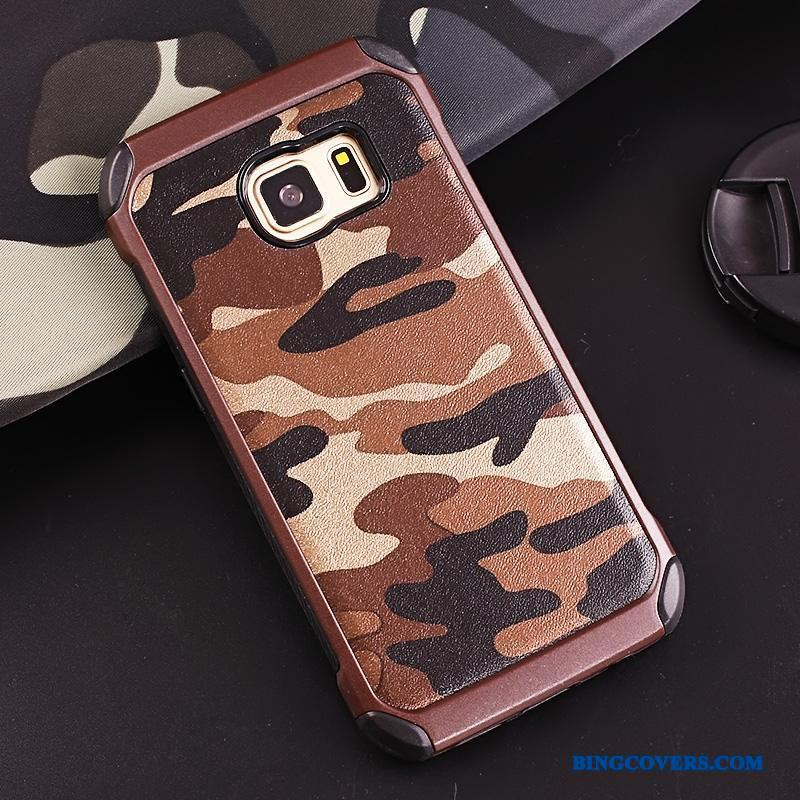 Samsung Galaxy S7 Etui Ring Stjerne Anti-fald Beskyttelse Camouflage Silikone Cover
