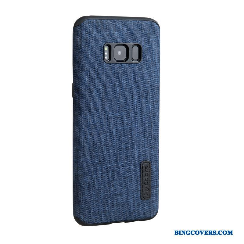 Samsung Galaxy S8 Cyan Blød Beskyttelse Business Etui Cover Klud