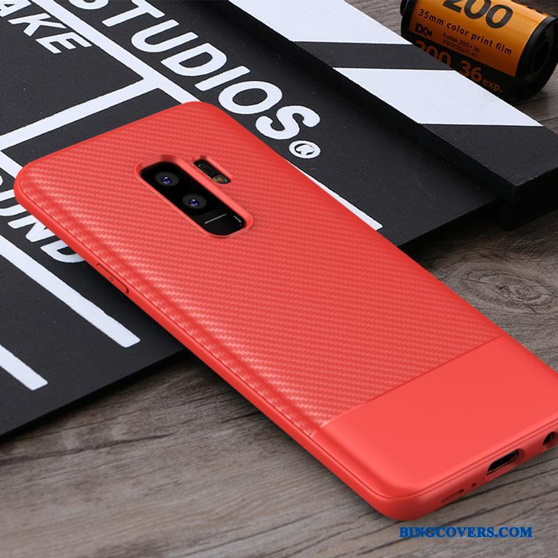 Samsung Galaxy S9+ Anti-fald Beskyttelse Sort Blød Etui Cover Business