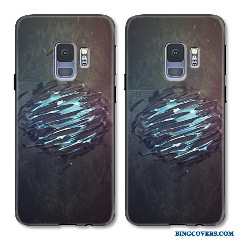 Samsung Galaxy S9+ Simple Cover Telefon Etui Malet Sort Relief Kreativ