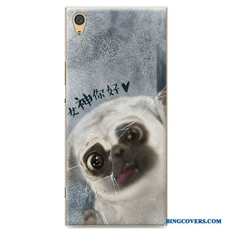 Sony Xperia Xa1 Beskyttelse Telefon Etui Grå Malet Trend Cover Cartoon