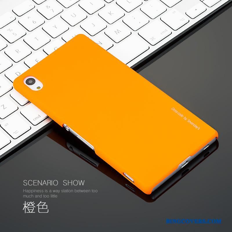 Sony Xperia Z3+ Cover Silkeblød Telefon Etui Simple Beskyttelse Orange Tynd