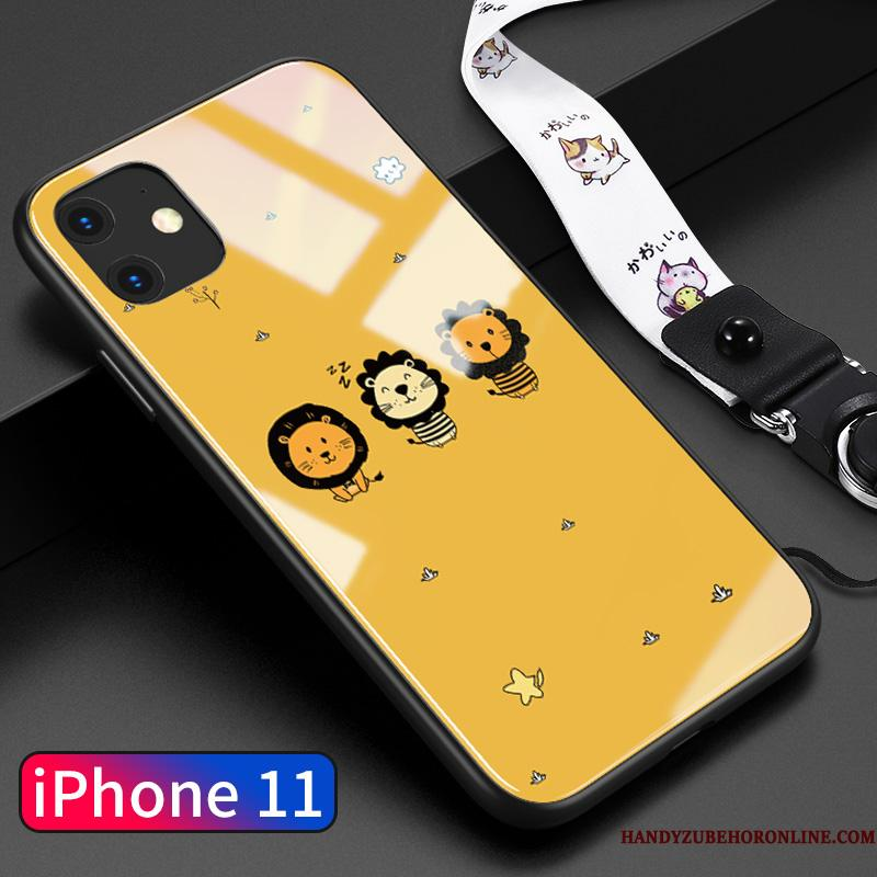 iPhone 11 Etui Alt Inklusive Af Personlighed Cover Gul Glas Tynd Ny