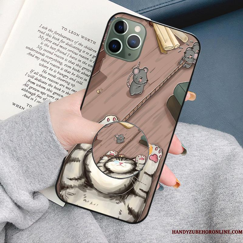 iPhone 11 Pro Max Support Cartoon Telefon Etui Trendy Silikone Cover Blød