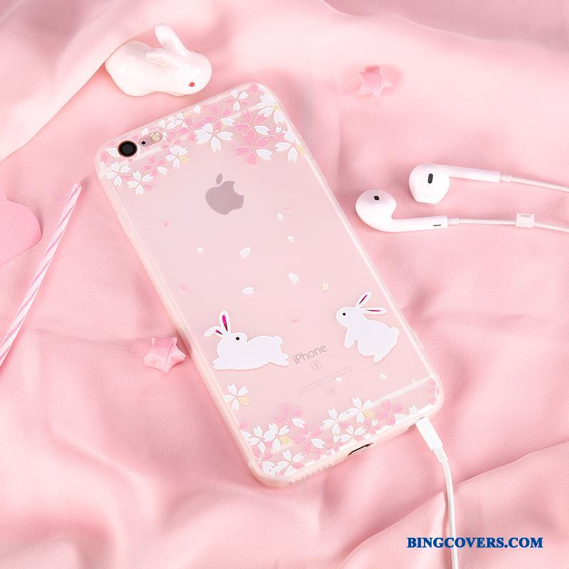 iPhone 6/6s Etui Ny Silikone Lyserød Cover Hængende Ornamenter Cherry Cartoon