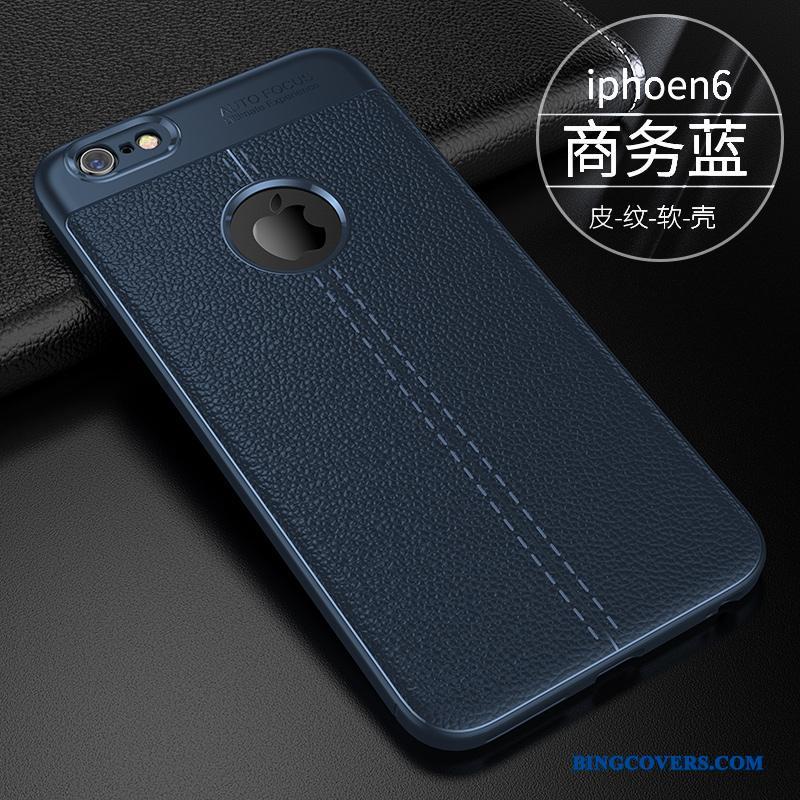 iPhone 6 6s Plus Telefon Etui Blå Trend Anti-fald Tynd Alt Inklusive Blød 64690cd5de6d0