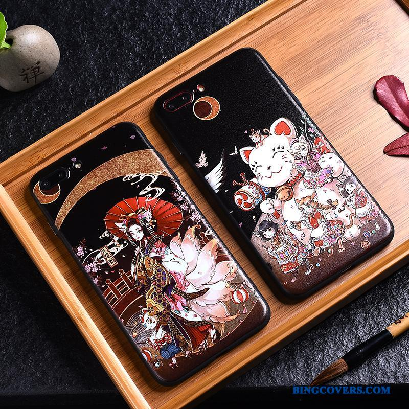iPhone 8 Af Personlighed Kreativ Wealth Alt Inklusive Vind Sort Telefon Etui