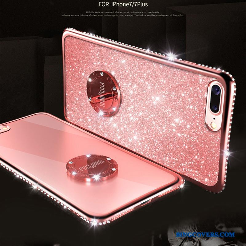 iPhone 8 Strass Lyserød Telefon Etui Net Red Trendy