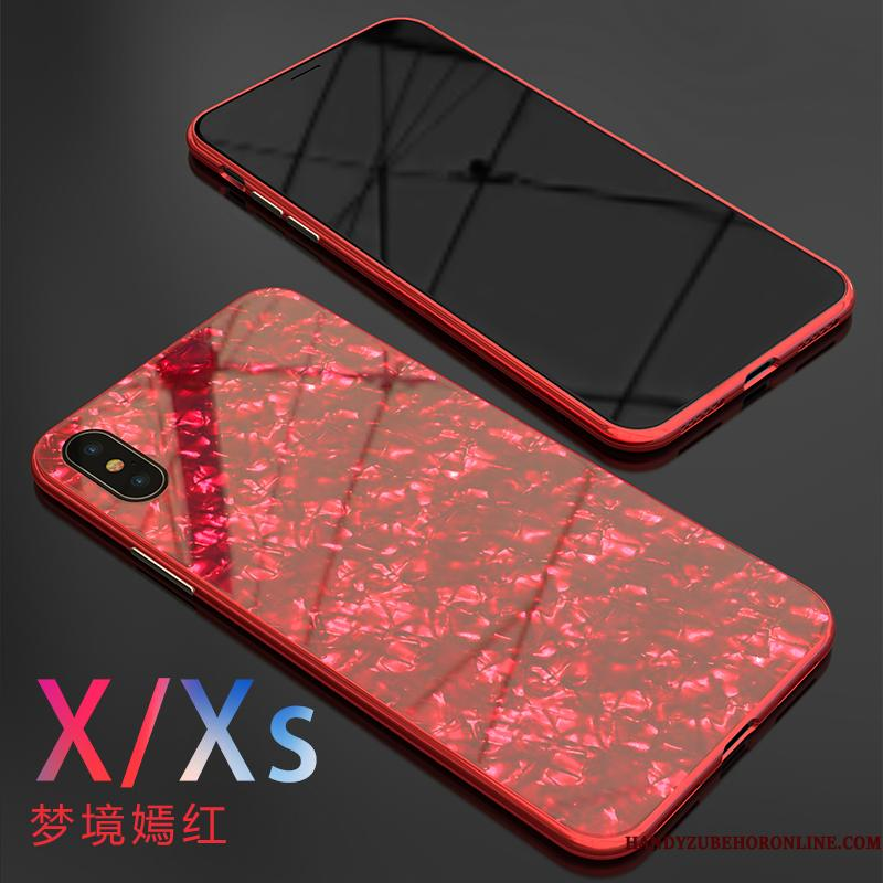 iPhone Xs Etui Kreativ Anti-fald Spejl Shell Ny Net Red Cover